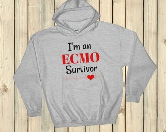 I am an ECMO Survivor Hoodie Sweatshirt - Choose Color