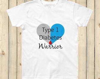 I am a Type 1 Diabetes Warrior T1D Kids' Shirt - Choose Color