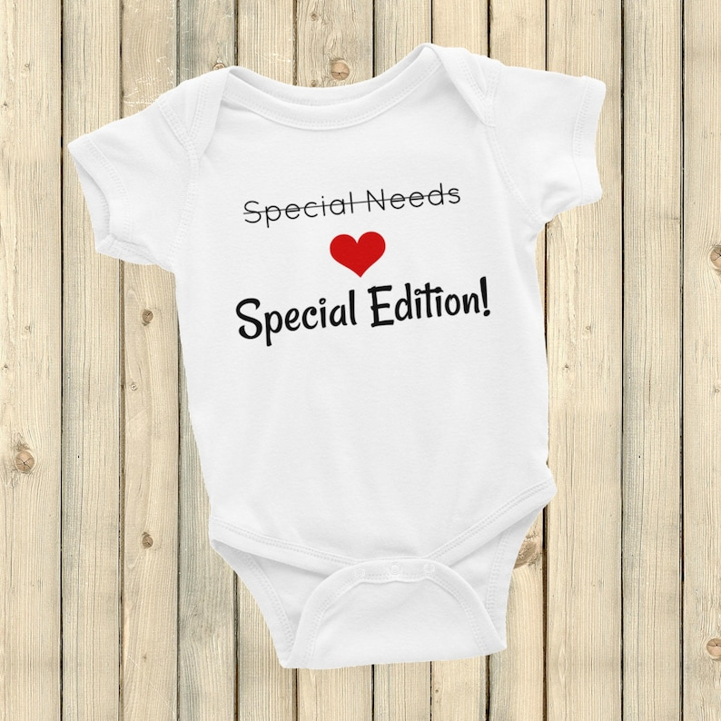 834e2cd62 Special Edition Not Special Needs Bodysuit Choose Color | Etsy