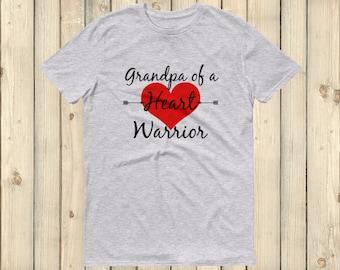 Grandpa of a Heart Warrior CHD Heart Defect Unisex Shirt - Choose Color
