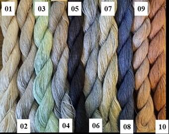 linen natural 3ply yarn linen thread weaving crochet yarn thick yarn Linen anthracite yarn