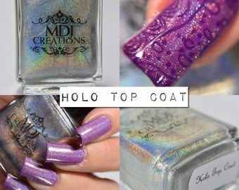 Holographic Top Coat, Spectraflair Rainbow Spectrum 5 Free Nail Polish by MDJ Creations