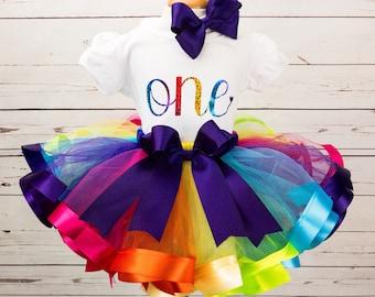 2a068036a Rainbow tutu outfit