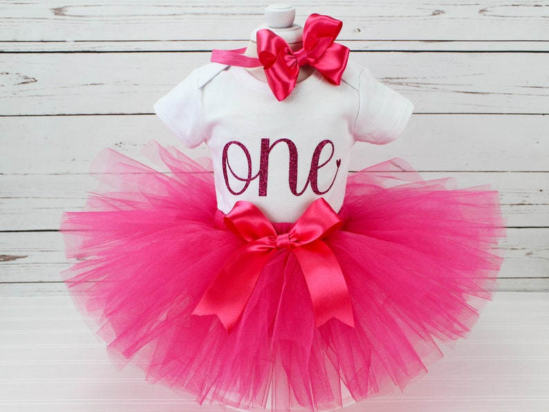 c4d49e33a Hot Pink Tutu for Girls Birthday Tutu Outfit for Baby or | Etsy