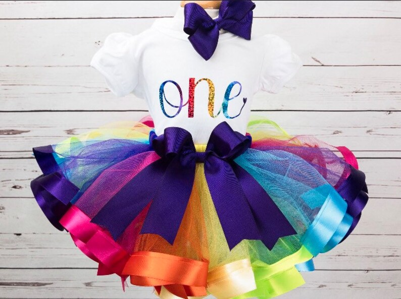 2c36517f5 Rainbow Tutu for Girl 1st Birthday Girl Outfit Cake Smash