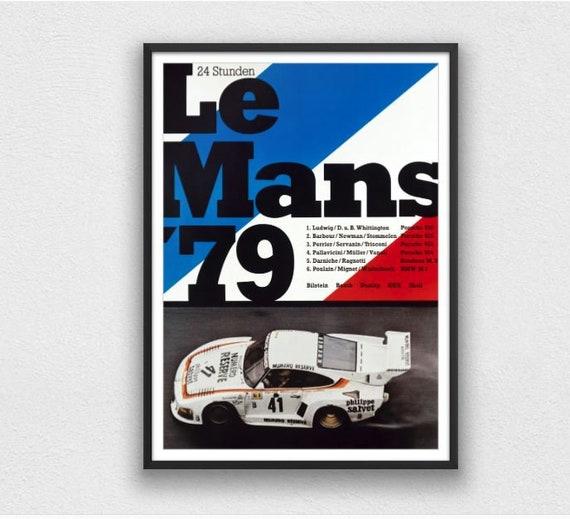 1959 Le Mans Race Car Vintage Style Auto Racing Poster 20x28