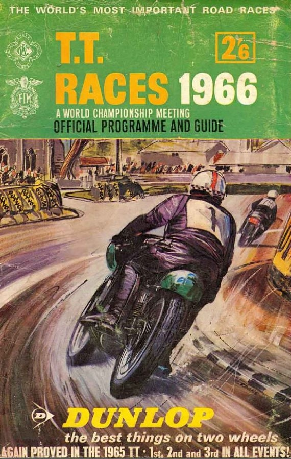 Vintage 1959 Isle of Man TT Motor Bike Racing Programme Poster Print A3//A4