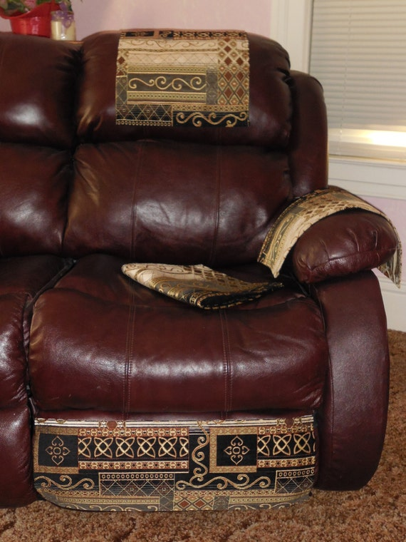 Chair Headrest Covers Sofa Protector 4pc Furniture Set Etsy