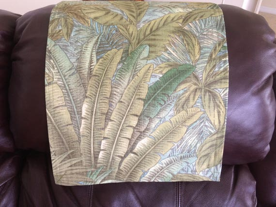 Fine Recliner Removable Head Cover Furniture Protector Chair Cap Headrest Pad Canvas Upholstery Palm Tree Green Indoor Outdoor Fabric 14X30 Gmtry Best Dining Table And Chair Ideas Images Gmtryco