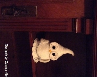 Ghostette the ghost owl - amigurumi PDF crochet pattern
