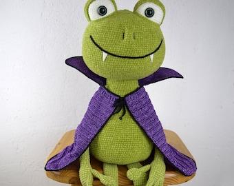 Vampire frog - amigurumi PDF crochet pattern ebook in ENGLISH and GERMAN