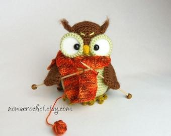 Shalette the owl - amigurumi PDF crochet pattern