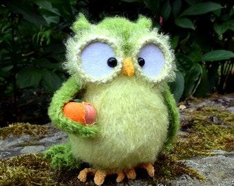 Laurette the owl crocheted OOAK unique amigurumi from the designer