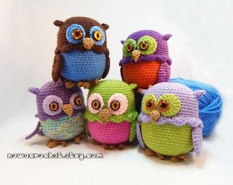 Owl mini storage box - PDF crochet pattern in GERMAN and ENGLISH