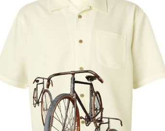 Men's Bicycle Shirt-Vintage Bicycles-Casual Road Bike Shirt,cycling shirt,gifts for cyclists,bike gift,men's gift,father's day gift