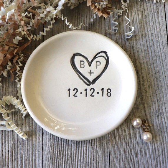 Bridal Shower Gift Wedding Gift Personalized Gift Engagement Gift Wife Gift Gift for Bride Best Day Ever ring dish Anniversary Gift