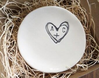 ring dish, ring holder, engagement gift, wedding gift, bridal shower gift, bridesmaid gift, wedding ring holder, Promise Pottery