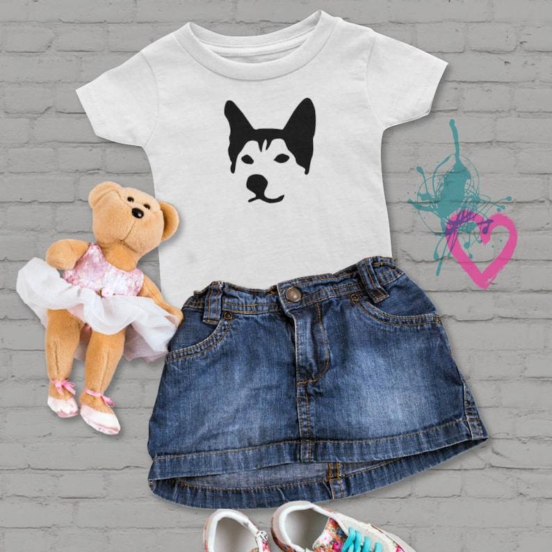 0f40b998 Husky, Little Girl tee, Koszulka Husky psa, Koszulka bawełniana, T-shirt,  Unisex, Baby shirt, tee niemowląt, Rodzina PET, prezent dla małej ...
