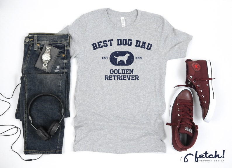 Tank Top Golden Retriever DAD shirt Fathers Day Gift Best Dog Dad Personalization Hoodie Retriever Lover T-Shirt Long Sleeve