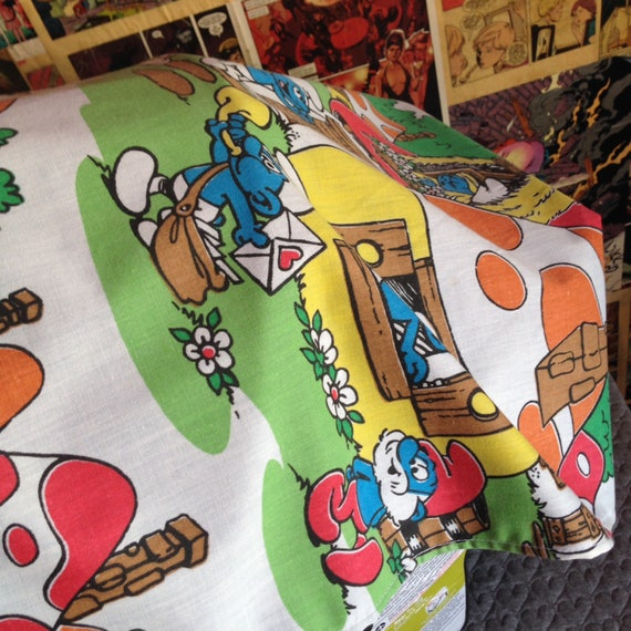 Outstanding Vintage Smurfs Car Seat Cover Camellatalisay Diy Chair Ideas Camellatalisaycom