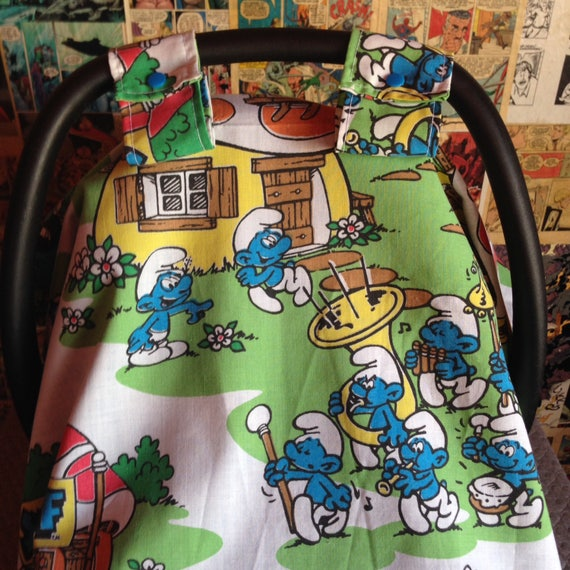 Remarkable Vintage Smurfs Car Seat Cover Camellatalisay Diy Chair Ideas Camellatalisaycom