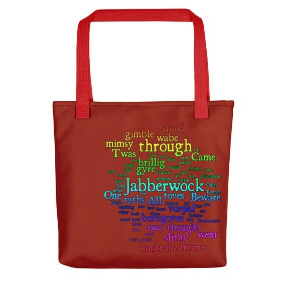 Beware The Jabberwocky Poem Tote Bag