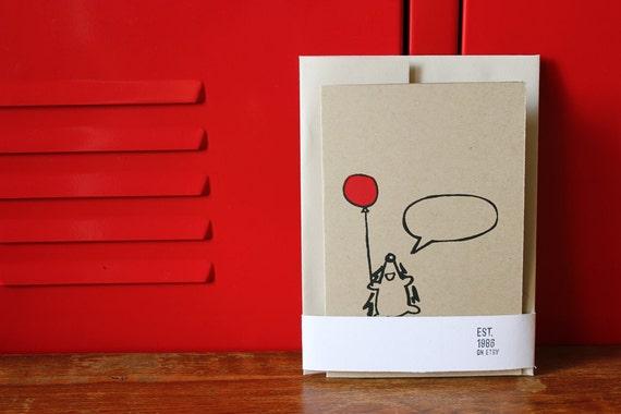 Happy Hedgehog Greeting Card, Silkscreen Card w/envelope