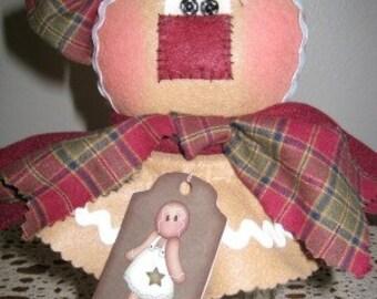 Gingerbread Candy Jar, Downloadable Pattern, Kerr Mason Jar, Holiday Gifts, Christmas Gift, Teacher's Gift, Handmade, My Darlin Dolls, Dolls