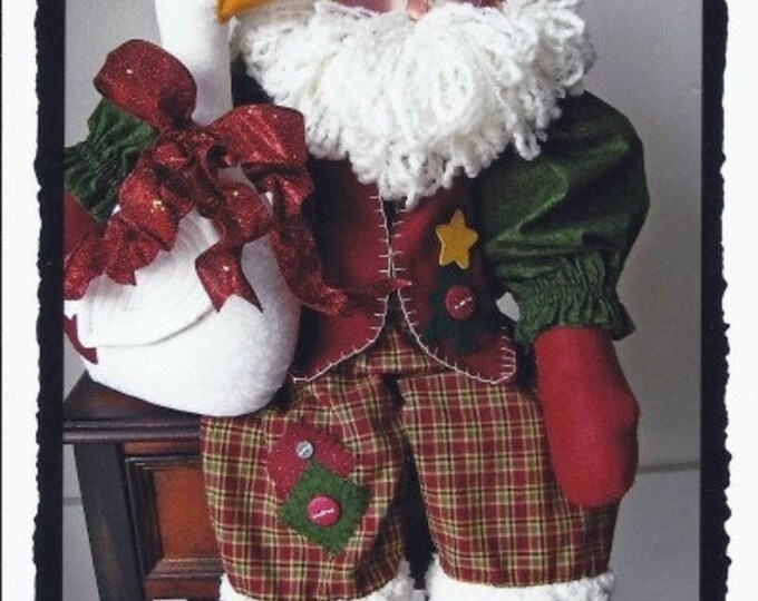 Who's Cooking the Christmas Goose?, Downloadable Pattern, My Darlin Dolls, Christmas Decor, Holiday Decor, Santa Pattern, Sewing Patterns