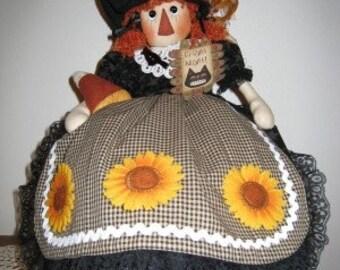 Fright Night PJ or Baggy Holder, Bag Holder, Witch Pattern, Witch Bag Holder, Witch PJ Holder, Halloween Decor, Downloadable Pattern, Fall