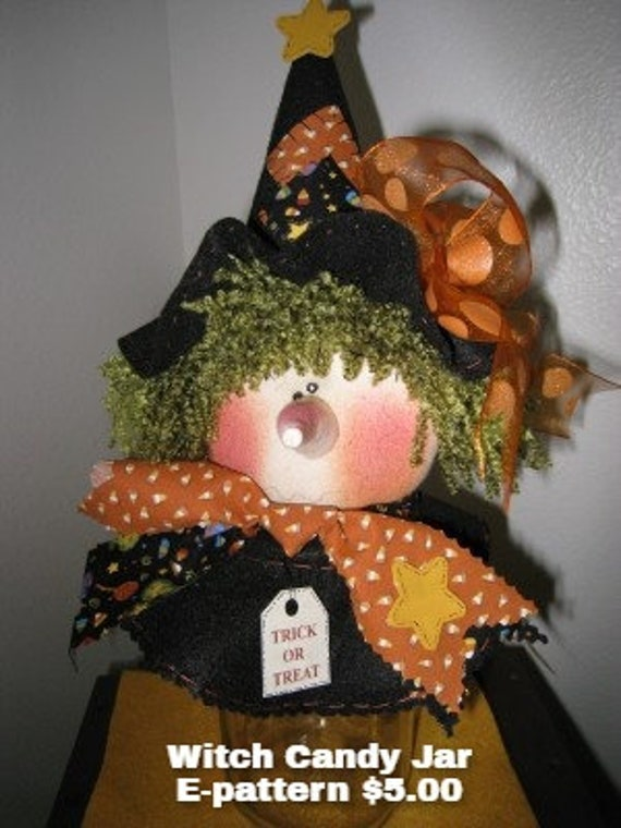 WITCH CANDY JAR Instant Download