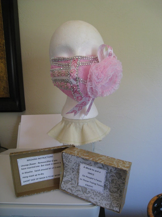 Handmade Couture Face Mask that is Hand Beaded