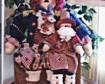 Andy George & LIttle Sam, Instant Downloadable, E-Pattern, Holiday Doll Patterns, Patriotic, Raggedy Andy Sewing Pattern, Home Decor