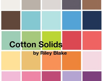 Riley Blake Cotton Solid 5 Inch Stackers