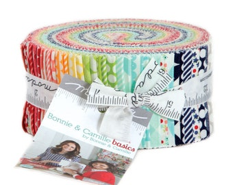 Bonnie and Camille Basics Jelly Roll by Moda, 40 - 2.5 x 44 inch Strips
