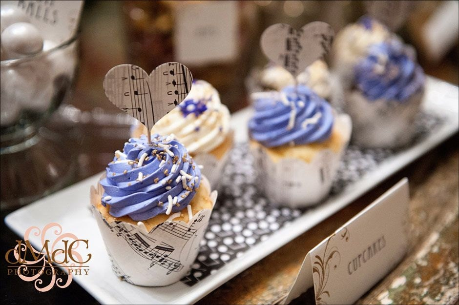 Lavender Wedding Cupcake Wrappers Vintage Wedding Music Etsy