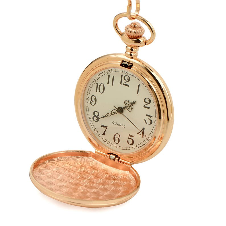 ce748c188 Personalized Pocket Watch Custom Engraved Rose Gold Color   Etsy