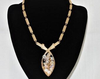Vintage LJM Crystal Necklace, Laurentian Jewellery Manufacturing