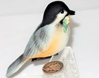 Hallmark 1984 Porcelain Clip On Chickadee Christmas Ornament