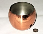 Round Mid Century Copper Cup or Bowl