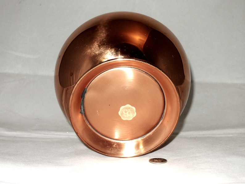 Mid Century Copper Guild Round Planter or Bowl