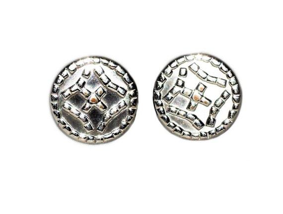 Vintage 1950s to 1970s Swank Silver Tone Cufflinks Raised Crown Round DressyWeddingGroomFormal Wear Men/'sMan/'s Accessory Cuff Links