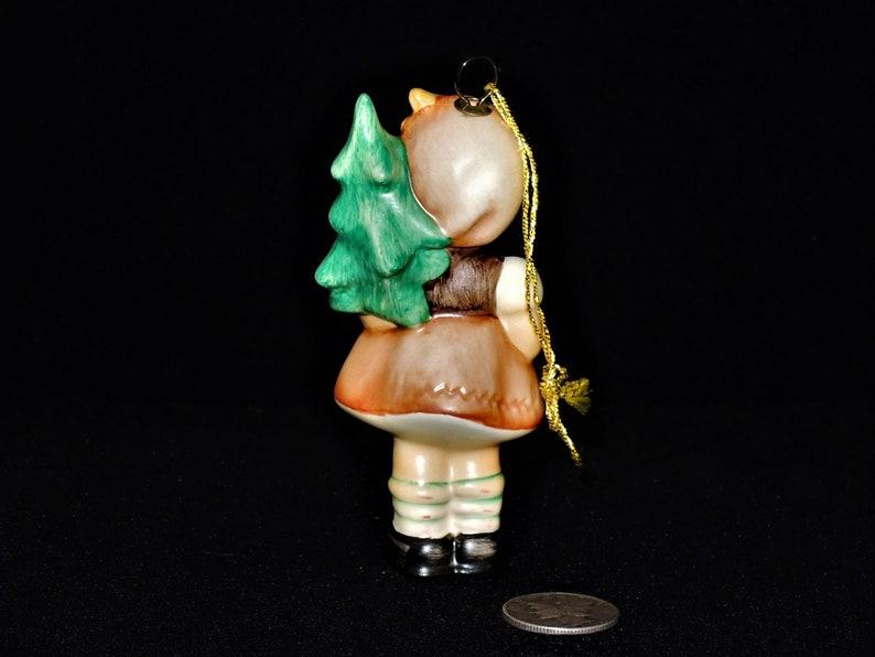 Girl with Fir Tree Vintage Hummel Goebel Christmas Tree Ornament