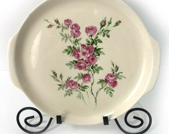 Rose Saucers Thermocraft ovenproof ballerina rose pattern vintage shabby chic replacement