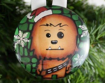 star wars ornament chewbacca ornament christmas tree decoration personalized gift idea for kids - Chewbacca Christmas Ornament