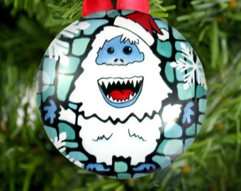 bumble ornaments abominable snowman yeti ornament christmas tree ornament rudolph the red nosed reindeer ornament - Abominable Snowman Rudolph Christmas Decoration