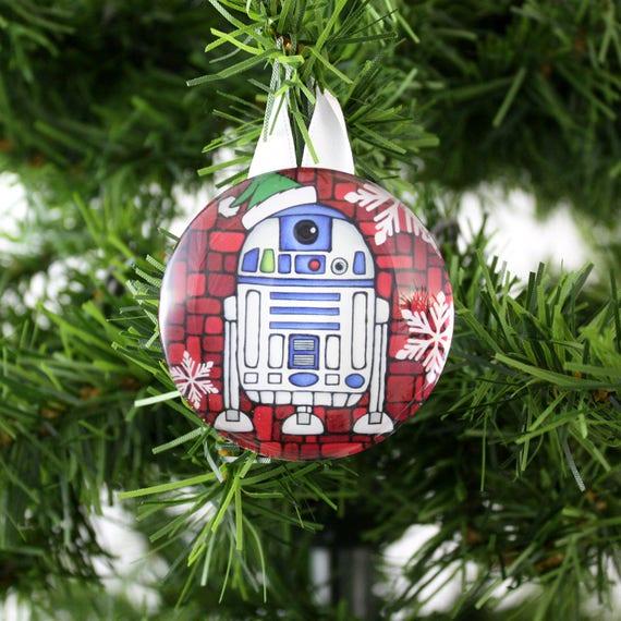 Star Wars Ornament R2d2 Ornament Star Wars Christmas Tree Etsy