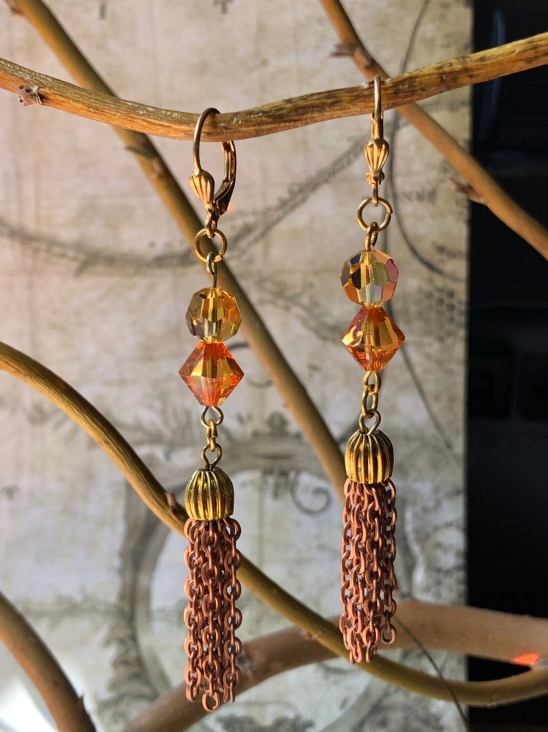 Wild Gypsy Tassel Earrings  Gypsy Jewelry Tribal Jewelry image 0