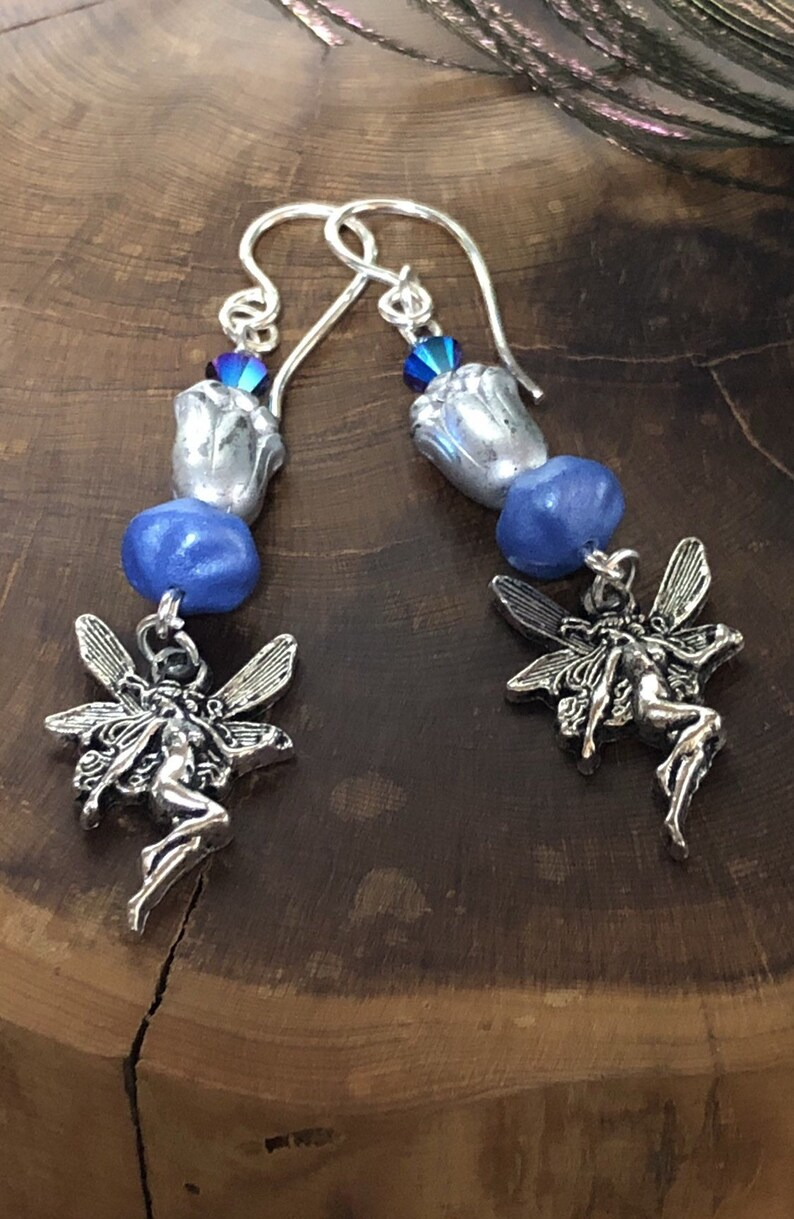 Fairy Earrings  Fairy Jewelry Fairytales Fae Fairies image 0