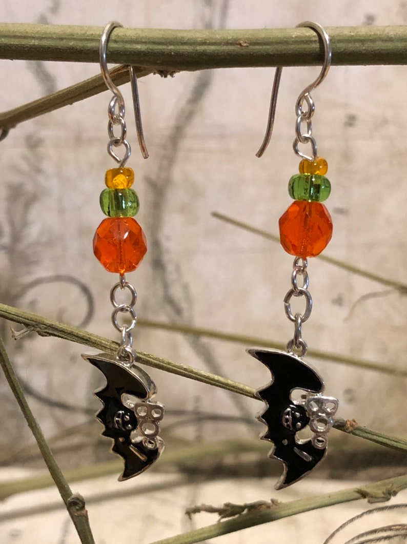 Bat Earrings  Bat Jewelry Bat Gifts Vampire Bat Jewelry image 0